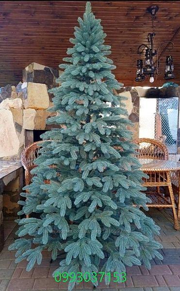 Искусственная голубая елка Аляска литая
