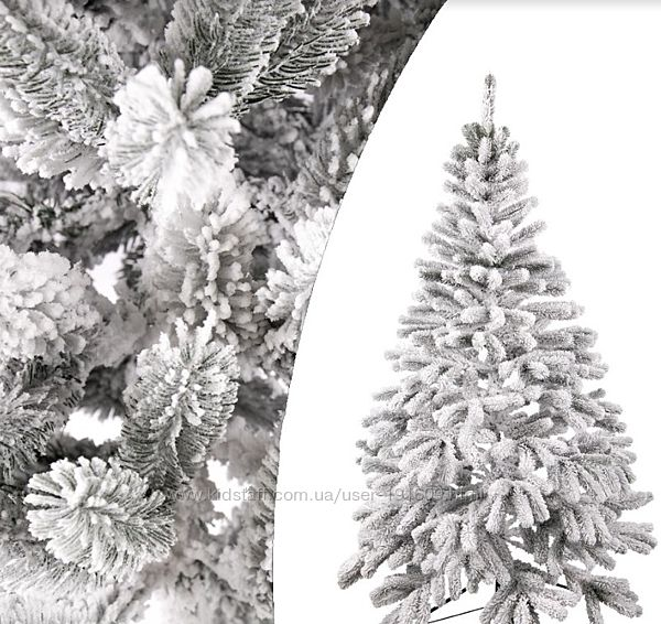 Литая искусственная елка Президентская заснеженная