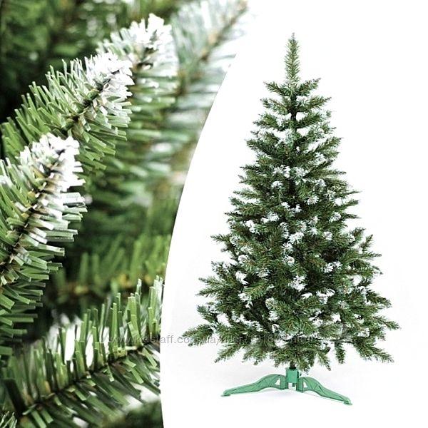 Новогодняя искусственная елка из плёнки ПВХ Карпатская с белыми кончиками