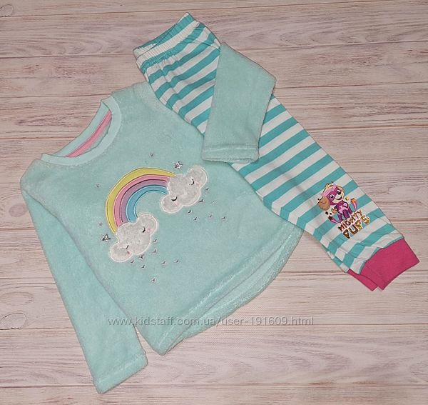 Пижама теплая George девочке 1,5-2 года