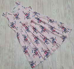 Трикотажное платье H&M девочке 4-6 лет бу