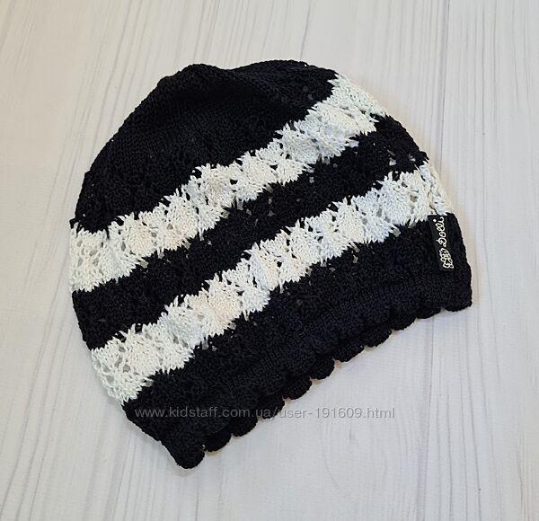 Легкая вязаная шапочка Dolli девочке 53 см 4-5 лет бу