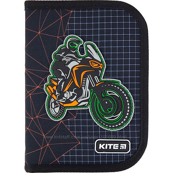 Пенал с наполнением Kite K21-622H-2 с мотоциклистом