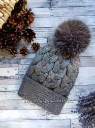 вязанная шапка с градиентом 400 грн женские шапки Kidstaff