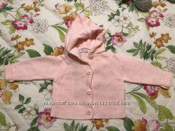 Милая розовая кофточка с капюшоном