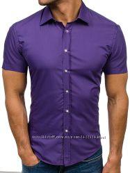 Рубашка сиреневая мужская asos 100  хлопок