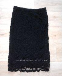 Очень красивая черная гипюровая юбка