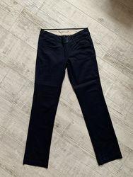 Прямые брюки MANGO Navy Blue Slim Pants