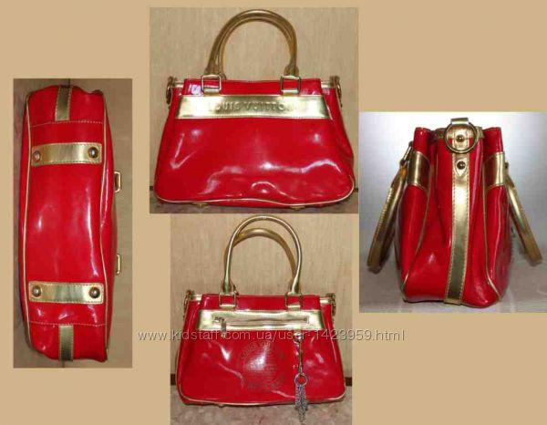 Ярко красная с золотом Limited edition сумка louis vuitton оригинал  бр