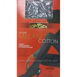 Колготки OMSA Melange Cotton хлопковые тёплые на зиму