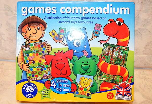 Games Compendium от Orchard Toys 4 игры в одной коробке