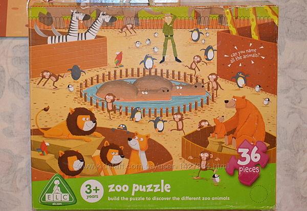 Пазл для малышей. зоопарк от elc