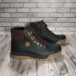 Ботинки кожаные зимние подростковые 00648