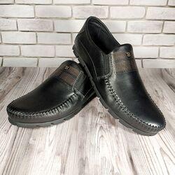 Мужские кожаные туфли 00478
