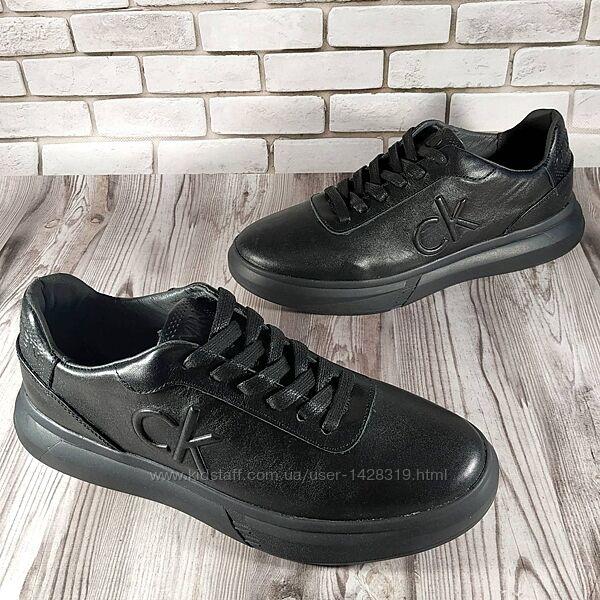 Мужские кожаные кроссовки 00685