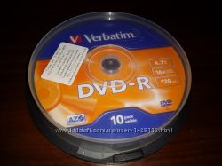 Диски DVD-R Verbatim чистые