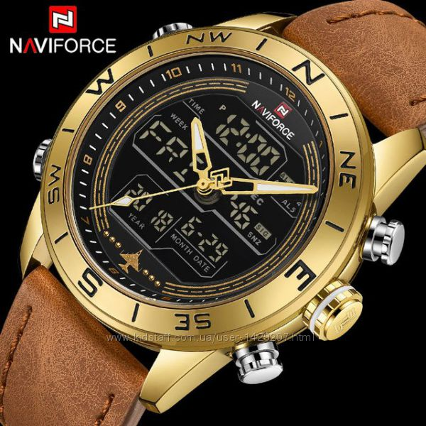 Мужские наручные часы NAVIFORCE Gold bbf6f267476d8