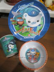 Детский набор посуды с героями мульта Октонавты SPEARMARK 3 единицы