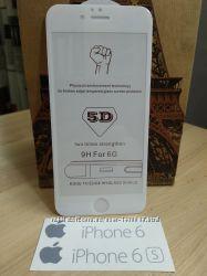 5D защитное стекло на iPhone 6, 6s, 6 plus, 7, 8, 7 plus, 8 plus, X