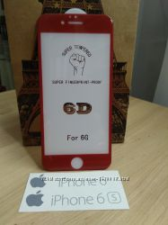 6D защитное стекло iPhone 6, 6s, 6 Plus, 7, 8, 7 Plus, 8 Plus