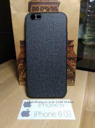 Силиконовый бампер ткань, кожзам iPhone 6, 6s
