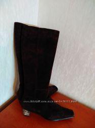 Зимние сапоги замшевые Carlo Pazolini  40 размер на цигейке