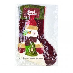Новогодний рождественский носок для подарков