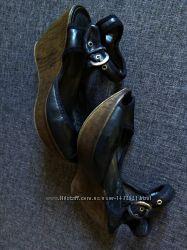 Босоножки 38-39р,  черные каблук шпилька