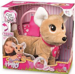 Интерактивная собачка Simba Chi-Chi love Счастливчик с сумочкой 12 команд