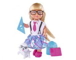 Кукла Эви Школьница Evi School со школьными принадлежностями