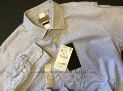 Мужская новая рубашка ZARA men slim fit оригинал размер M