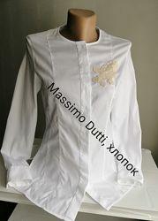 Рубашка белая massimo dutti, хлопок, размер 4,26,36, xs, s,6,8