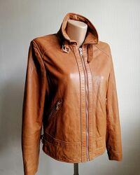 Кожаная куртка massimo dutti, из натур кожи, р. s, xs, m,6,8,10,30,34,36