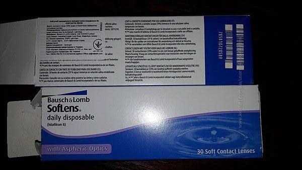 Однодневные контактные линзы 26 шт. Soflens daily disposable, BauschLomb
