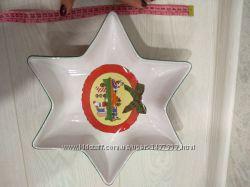 Блюдо новогоднее звезда Giordano