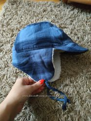 Тепла шапка - ушанка 6-12 міс.