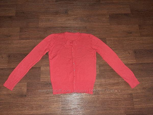 Кофта красная на девочку до 152см