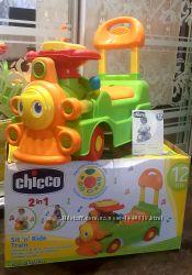 Игрушка толокар Паровозик Chicco Loco Train 2в1
