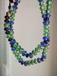 Ожерелье из цветного хрусталя