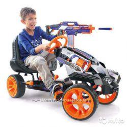 Nerf детский педальный картинг бластер веломобиль Battle Racer Ride On T918