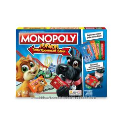 Экономическая игра Hasbro Монополия Юниор с банковскими карточками E1842