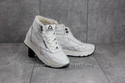Женские зимние кожаные ботинки Reebok, натуральная шерсть