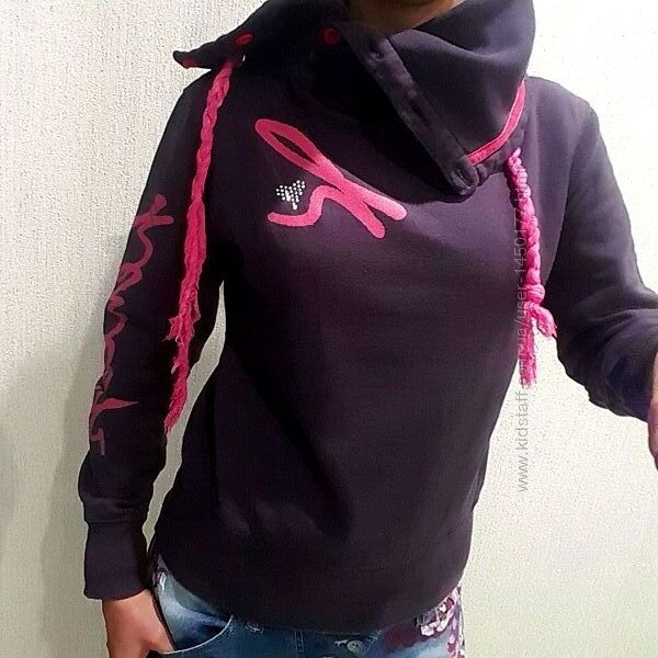 Батник толстовка свитер спорт пайта розовый серый модный крутой