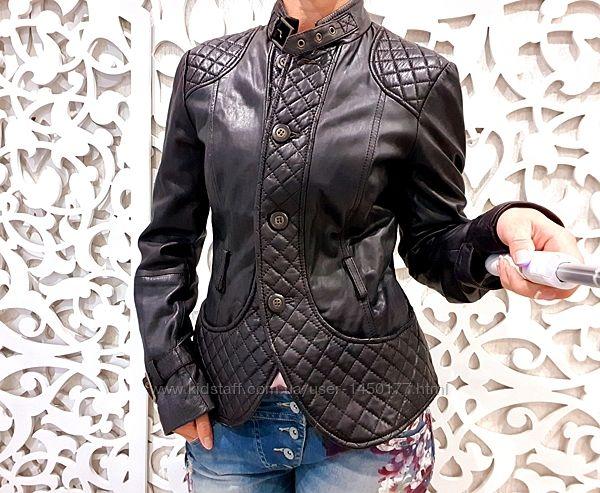 Куртка ZARA M кожаная натуральная кожа с художественной обработкой