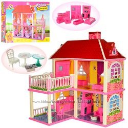 Домик для куклы Барби Арина 6980 будинок для ляльки 2 этажа, 5 комнат