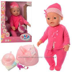 Baby Born, Пупс Беби Борн, магнитная соска, 9 функций Бебі Борн лялька