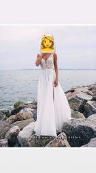 Роскошное свадебное платье Bali, цвет айвори, размер M, чаша D