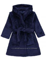 Теплый плюшевый детский халат с капюшоном George Hooded Dressing Gown