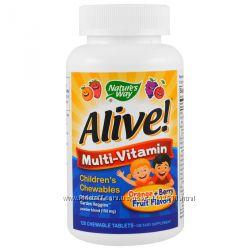 Мультивитамины Children&acutes Chewable Nature&acutes Way, Alive, 120 шт