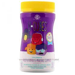 U-Cubes, мультивитамины и минералы для детей, 60 шт, Solgar